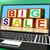 big sale message on laptop shows online discounts stock photo © stuartmiles