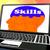 Skills On Brain On Laptop Showing Human Abilities stock photo © stuartmiles