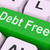 debt free key means financial freedom stock photo © stuartmiles