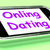 online dating on phone shows romancing and web love stock photo © stuartmiles