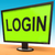 login screen shows website internet log in security stock photo © stuartmiles