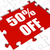 fifty percent off puzzle means reduced discount or sale 50 stock photo © stuartmiles