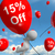 balloon with 15 off showing discount of fifteen percent stock photo © stuartmiles