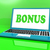 bonus · laptop · voordeel · dividend · betekenis · internet - stockfoto © stuartmiles