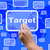 target touch screen shows aims objectives or aspirations stock photo © stuartmiles