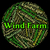 wind farm word shows earth friendly and electricity stock photo © stuartmiles