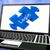 bejelentkezés · laptop · férfi · kanapé · internet · technológia - stock fotó © stuartmiles