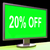 twenty percent off monitor means discount or sale online stock photo © stuartmiles