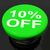 ten percent button shows sale discount or 10 off stock photo © stuartmiles