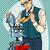 retro · cartoon · nauczyciel · kobieta · dzieci · pracy - zdjęcia stock © studiostoks