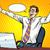 ビジネスマン · オーケー · 成功 · ポップアート · コミック · レトロスタイル - ストックフォト © studiostoks
