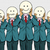 vintage set of smiley face emoji people isolated background stock photo © studiostoks