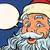 Cartoon · feliz · papá · noel · burbuja · de · pensamiento · mano · diseno - foto stock © studiostoks