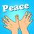 silueta · mano · símbolo · paz · forma · vida - foto stock © studiostoks