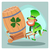 day patrick green leprechaun lucky keg of beer stock photo © studiostoks