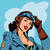 pin up girl pilot aviation army beauty pop art retro stock photo © studiostoks