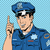 police officer warns draws attention profession smile law and or stock photo © studiostoks