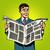 man businessman reading news newspaper stock photo © studiostoks