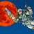 cartoon · astronaut · witte · man · technologie · ruimte - stockfoto © studiostoks