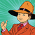 thumb up boy in a big hat stock photo © studiostoks