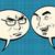 two men joyful and angry comic bubble smiley face stock photo © studiostoks