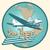 bon voyage abstract retro plane poster stock photo © studiostoks