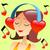 coração · notas · musicais · amor · piano · preto · jogar - foto stock © studiostoks