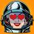 emoticon love emoji face woman astronaut retro stock photo © studiostoks