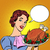 woman with a christmas turkey thanksgiving stock photo © studiostoks