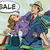 lány · eladó · bevásárlótáskák · pénz · nők · boldog - stock fotó © studiostoks