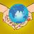 planet earth in hands eurasia africa australia and antarctica stock photo © studiostoks