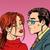 man woman kiss love romance couple stock photo © studiostoks
