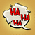 comic bubble head laughter ha stock photo © studiostoks