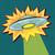 pop art ufo with light beam stock photo © studiostoks