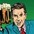 emotional vintage man with beer stock photo © studiostoks