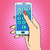 hand · smartphone · telefoon · aantal · pop · art · retro-stijl - stockfoto © studiostoks