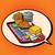 dienblad · fastfood · restaurant · pop · art · retro · illustratie - stockfoto © studiostoks
