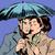 rain man and woman under umbrella romantic relationship courtshi stock photo © studiostoks