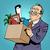 Geschäftsmann · Pop-Art · Retro · Comic · traurig · Büroangestellte - stock foto © studiostoks