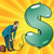 retro businessman inflating the dollar balloon stock photo © studiostoks