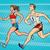 lopen · joggers · groep · mensen · silhouetten · fitness · groep - stockfoto © studiostoks