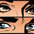 meisje · mannelijke · dialoog · pop · art · retro-stijl · man - stockfoto © studiostoks