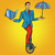 zakenman · acrobaat · business · circus · pop · art · retro-stijl - stockfoto © studiostoks