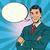 successful retro businessman comic bubble stock photo © studiostoks