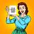 komik · karikatür · kadın · eller · Retro - stok fotoğraf © studiostoks