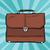 koffer · leder · aktetas · vector · ontwerp · illustratie - stockfoto © studiostoks