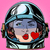 emoticon kiss love emoji face woman astronaut retro stock photo © studiostoks