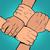 handdruk · twee · zakenlieden · handen · schudden · omhoog - stockfoto © studiostoks