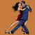 adam · kadın · öpücük · dans · tango · pop · art - stok fotoğraf © studiostoks