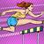 athletics steeplechase beautiful girl stock photo © studiostoks